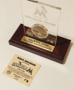 Official MLB Miami Marlins Infield Dirt Coin Highland Mint C