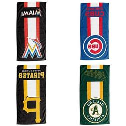 Officially Licensed MLB Read Beach Towel With Team Bold Colo