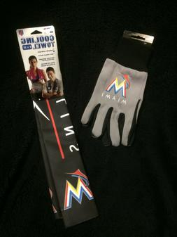 Pair Set Miami Marlins Florida MLB Cooling Towel Tufted Glov