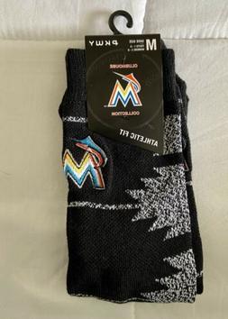 PKWY Miami Marlins Athletic Fit Socks Medium Youth Shoe Size