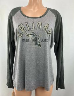 Women's Miami Marlins Shirt X-Large Long Sleeve Top XL Ladie