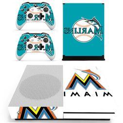 XBOX ONE S - Miami Marlins - Vinyl Protector Skin + 2 Contro